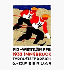 1933 Alpine Ski Championship Photographic Print