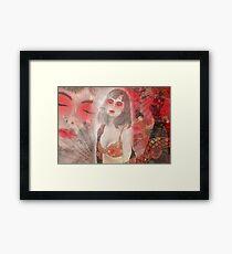 To tell you a geisha story... Framed Print