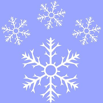 Ice Blue Snowflake Pawprint by -Chariot-