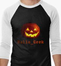 8 Bit Halloween Retro Pixel Men's Baseball ¾ T-Shirt