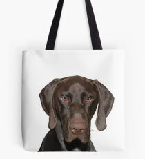 Glossy Grizzly German Shorthaired Pointer Tote Bag