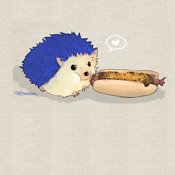 Hedgehog vs Chili Dog by The Realm of Torri by akslonetwin