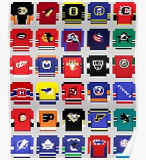 8-Bit Hockey Jerseys 2 Poster