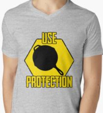 Use Protection Men's V-Neck T-Shirt