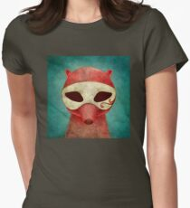 death as a fox in a mask Women's Fitted T-Shirt