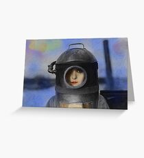Heroine - Vintage Dada Digital Art Greeting Card