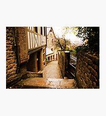 Back Street in Mont Saint Michel Photographic Print