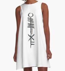 Aufhebung - Ogham-Skript A-Linien Kleid