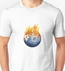 World Earth Fire Global Warming Climate Change Temperature T-Shirt