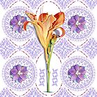 Gothic Revival Daylily by PatriciaSheaArt