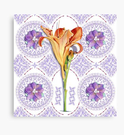 Gothic Revival Daylily Canvas Print