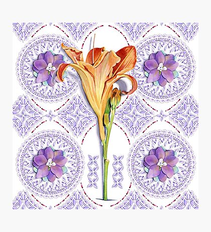 Gothic Revival Daylily Photographic Print