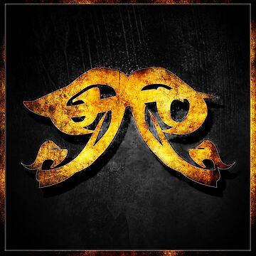 Glowing Heavenly Fire Rune by AjDreamCraft