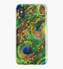 Fantasy Peacock Feathers laden with gold iPhone Case/Skin