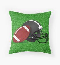 Football Helmet  with Football  Throw Pillow