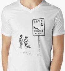 Easy...Children at play... Men's V-Neck T-Shirt