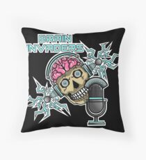 Brain Invaders Throw Pillow