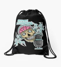 Brain Invaders Drawstring Bag