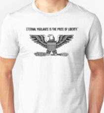 Patriotic Eternal Vigilance Is The Price Of Liberty Veterans Day Gift Thomas Jefferson Quote T-Shirt
