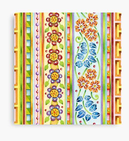 Parterre Botanique Vertical Canvas Print