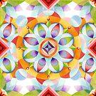 Flower Garden Kaleidoscope by PatriciaSheaArt