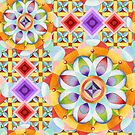 Avalon Mandala (asymmetric) by PatriciaSheaArt