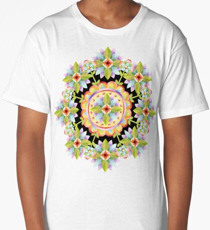 Starflower Mandala Blossoms Long T-Shirt