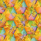 Harlequin Rainbow Leaves by PatriciaSheaArt
