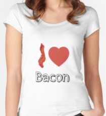 I love Bacon  Women's Fitted Scoop T-Shirt