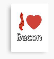 I love Bacon  Canvas Print