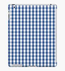 Delphinium Blue Mini Gingham Check Plaid iPad Case/Skin