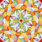 Big Top Rainbow Mandala by PatriciaSheaArt
