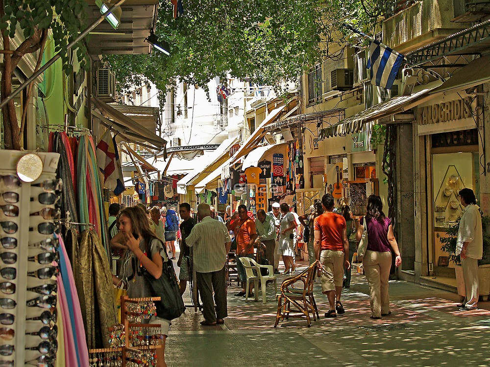 Palaka Shoping District of Athens, Greece by Memaa