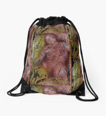 the red warrior Drawstring Bag