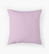 Classic Houndstooth in Bodacious Orchid Lilac and White Floor Pillow