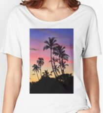 Maui Palm Tree Silhouettes Women's Relaxed Fit T-Shirt