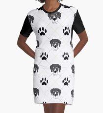 Mantle Great Dane Plaid Graphic T-Shirt Dress