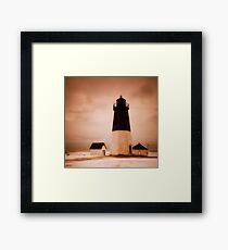 Point Judith Light Framed Print