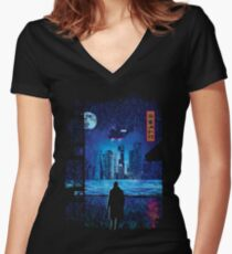 2049 Women's Fitted V-Neck T-Shirt