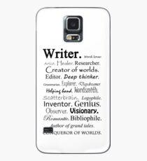 Beschreibung des Writers Hülle & Klebefolie für Samsung Galaxy