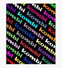 Kombi Kombi Kombi - on Black Photographic Print