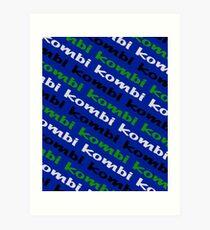 Kombi Kombi Kombi - Blue Art Print