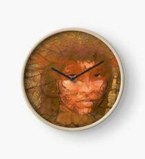 Serene warrior Clock