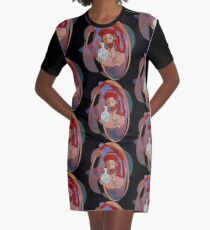 Red, the engraver Graphic T-Shirt Dress