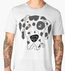 Harlequin Great Dane Dog Face Men's Premium T-Shirt