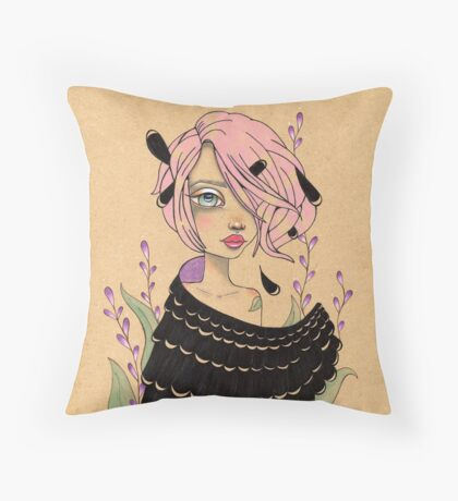 Changeling Girl Throw Pillow