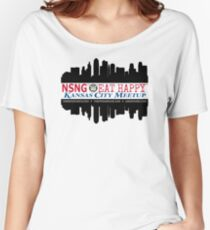 KCMO - NSNG® - Pure Vitamin Club™ - Eat Happy™ Women's Relaxed Fit T-Shirt
