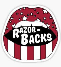 Razorbacks Lips Sticker