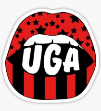 UGA Lips Sticker