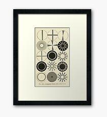 Vintage Astigmatism Eye Chart Framed Print